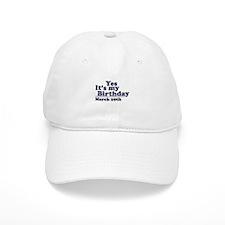 March 29 Birthday Baseball Cap