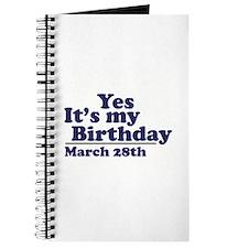 March 28 Birthday Journal