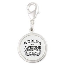 World's Most Awesome Daughter-In-Law Silver Round