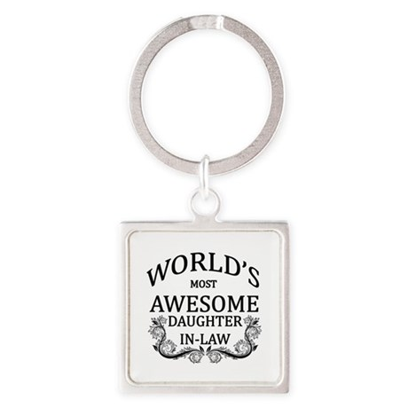 World's Most Awesome Daughter-In-Law Square Keycha