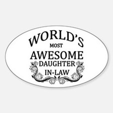 World's Most Awesome Daughter-In-Law Decal