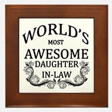 World's Most Awesome Daughter-In-Law Framed Tile