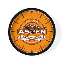 Aspen Tangerine Wall Clock