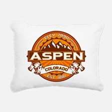 Aspen Tangerine Rectangular Canvas Pillow