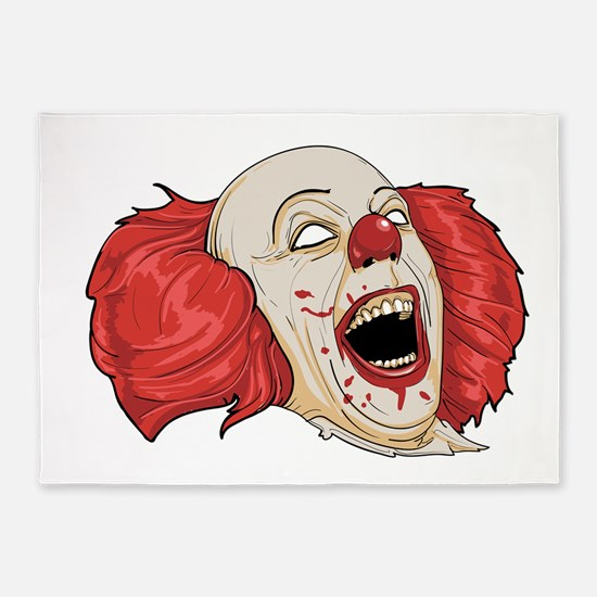 halloween evil clown 5'x7'Area Rug