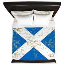 Distressed Scotland Flag King Duvet
