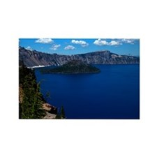 (10) Crater Lake  Wizard Island Rectangle Magnet