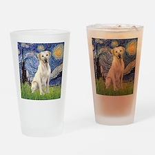 StarryNight (T) - YellowLab7 Drinking Glass