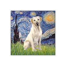 "StarryNight (T) - YellowLab Square Sticker 3"" x 3"""