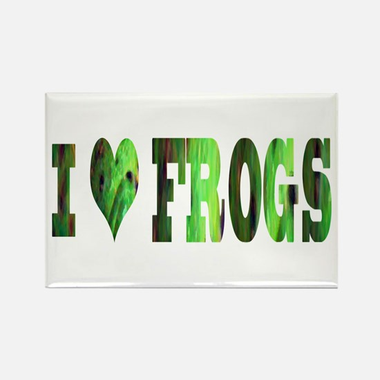 i love frogs Rectangle Magnet