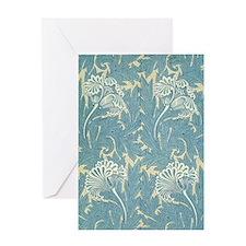 William Morris Tulip Design Greeting Card