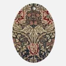 William Morris Honeysuckle Oval Ornament