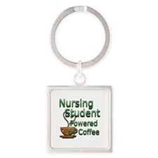 coffee nursing student Square Keychain