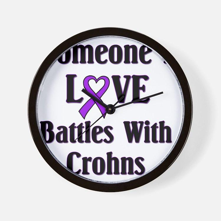 Crohns01 Wall Clock