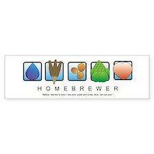 Homebrew Beer Makers Bumper Bumper Sticker