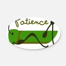 Patience Oval Car Magnet