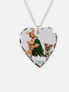DEER CHRISTMAS GREEN copy Necklace