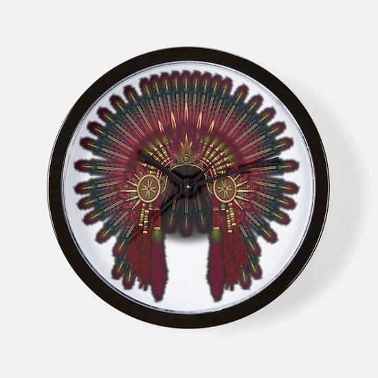 Native War Bonnet 06 Wall Clock