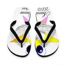 snow queen 2010 Flip Flops