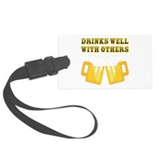 Drinks Well With Others Luggage Tag