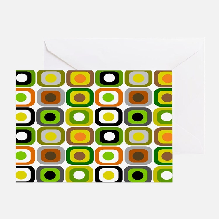MCM 222 squares BLANKET Greeting Card