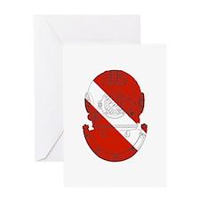 Diver Helmet Greeting Card