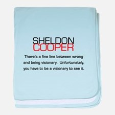 Sheldon Cooper's Visionary Quote baby blanket