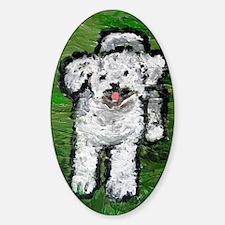 Fluffy Dog in Abbott Park Decal