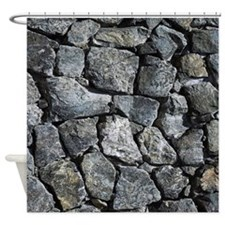 stone texture modern decor Shower Curtain