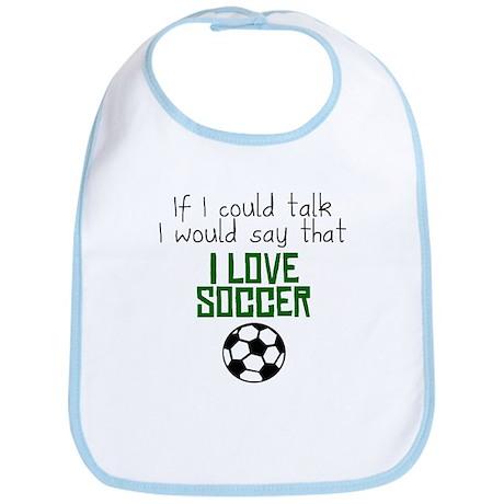 I Love Soccer Bib
