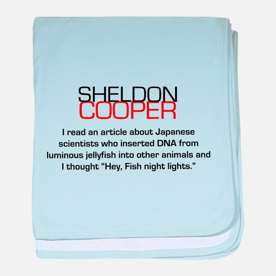 Sheldon Cooper's Fish Night Lights baby blanket