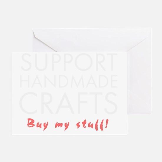 Support handmade light Greeting Card