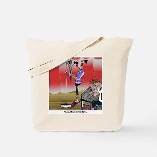 Microphone Feedback Tote Bag