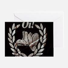 Oi Boots and Crest OiSKINBLU Greeting Card