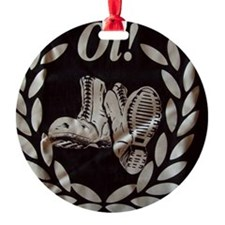 Oi Boots and Crest OiSKINBLU Ornament