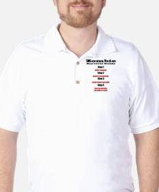 Zombie survival rules Zombie hunter  re Golf Shirt