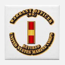 USMC - WO - Retired Tile Coaster