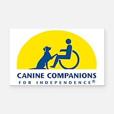 Color Canine Companions Logo Rectangle Car Magnet