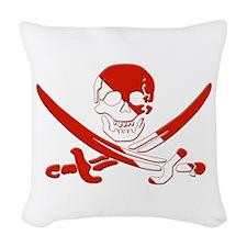 Pirate Skull Woven Throw Pillow