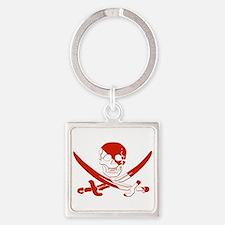 Pirate Skull Square Keychain
