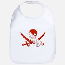 Pirate Skull Bib