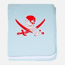 Pirate Skull baby blanket