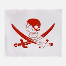 Pirate Skull Throw Blanket
