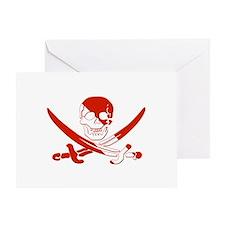 Pirate Skull Greeting Card