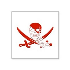 "Pirate Skull Square Sticker 3"" x 3"""