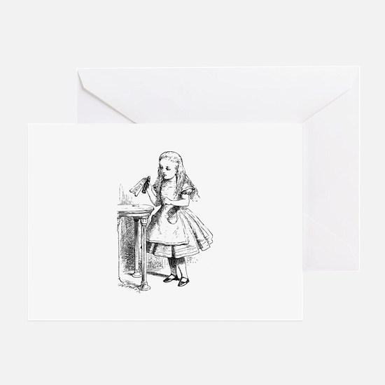 Alice & Drink Me Bottle Greeting Card