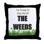 The Weeds Throw Pillow