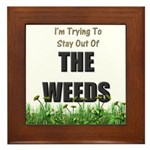 The Weeds Framed Tile