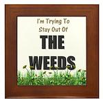 The Weeds Framed Tile