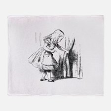 Alice & The Tiny Door Throw Blanket